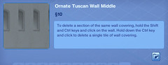 Ornate Tuscan Wall Middle