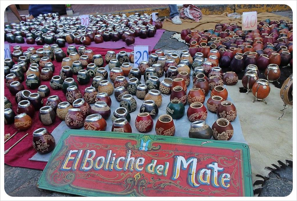 san telmo market mate stall