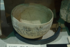 Pottery Bowl Inscribed in Hieratic