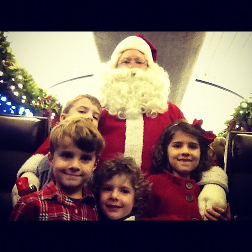 We found this dude on the train. #santa