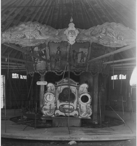 Shelburne Museum's Dentzel carousel being taken down c. 1950