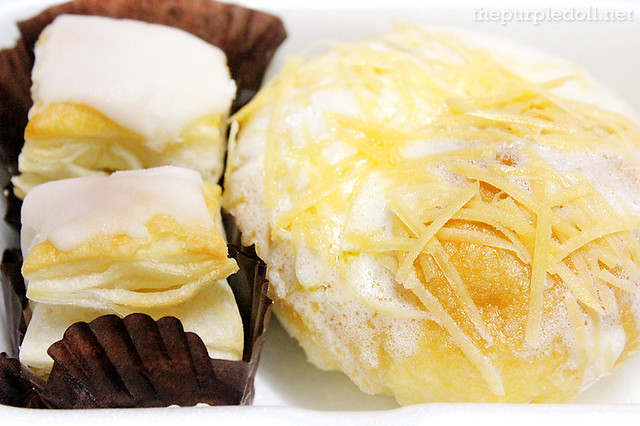 Ensaymada with Quezo de Bola P56 and Napoleones P29 each