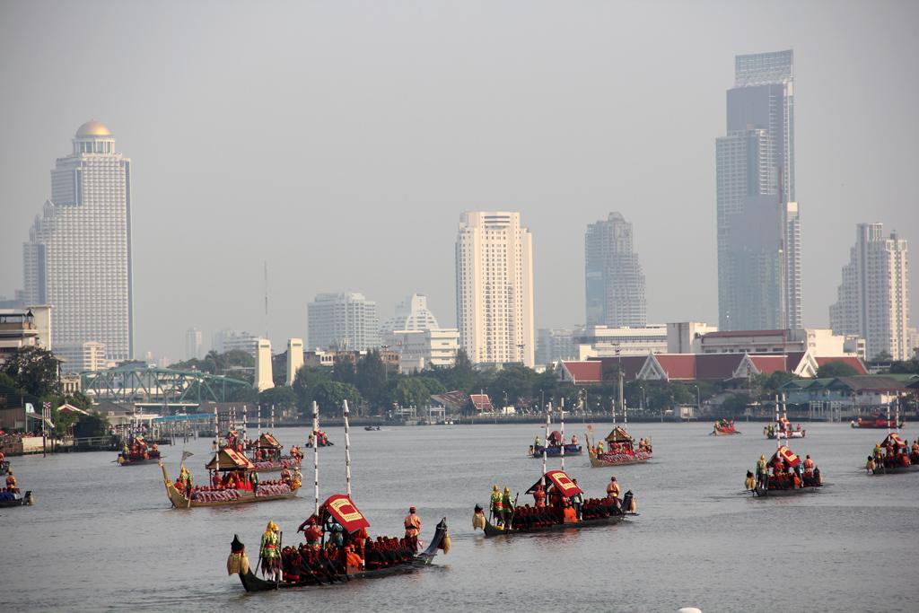 The barges gliding through Bangkok