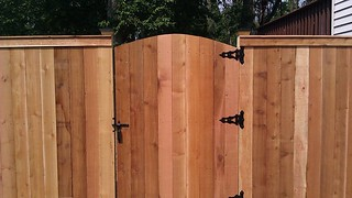 Custom Roll Top Cedar Gates