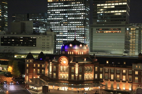 New Old Tokyo Station Night View (test ISO20000)