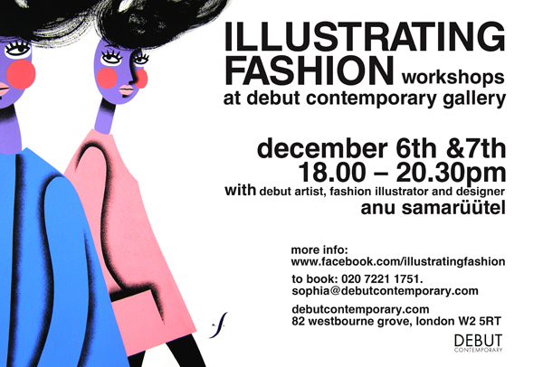 anu samarüütel ILLUSTRATING FASHION workshop flyer
