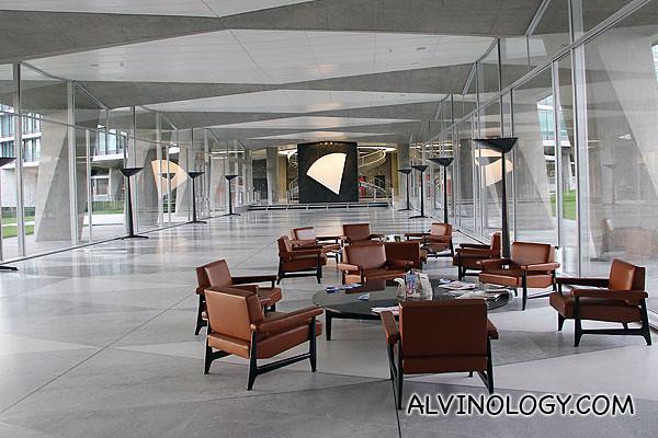 Really spacious open concept lobby