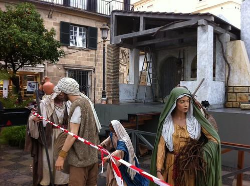 Montaje belén municipal en Jerez
