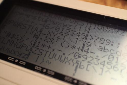 5x7 font test