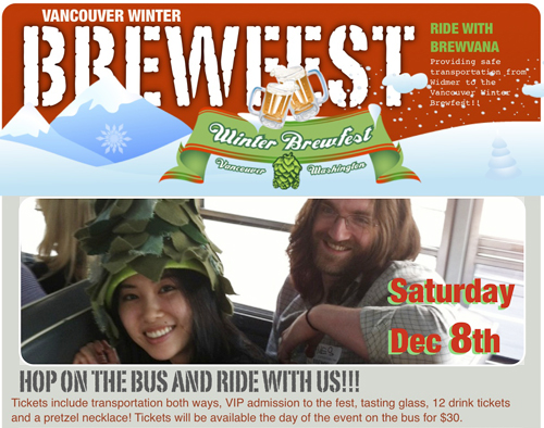 Vancouver Winter Brewfest Brewvana Shuttle
