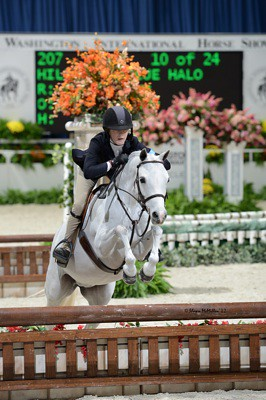 Hillcrest Blue Halo- Champion Small Pony at Washington International Horse Show