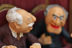 Christmas decorations - Statler and Waldorf from the Muppets