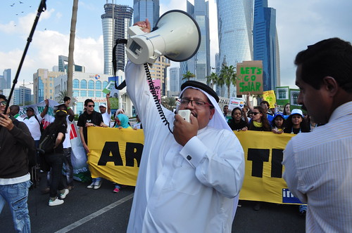 Qatar's first ever rally against climate change