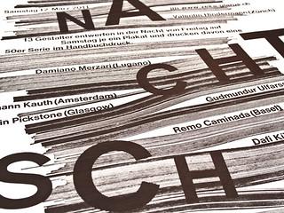 Nachtschicht letterpress poster prints