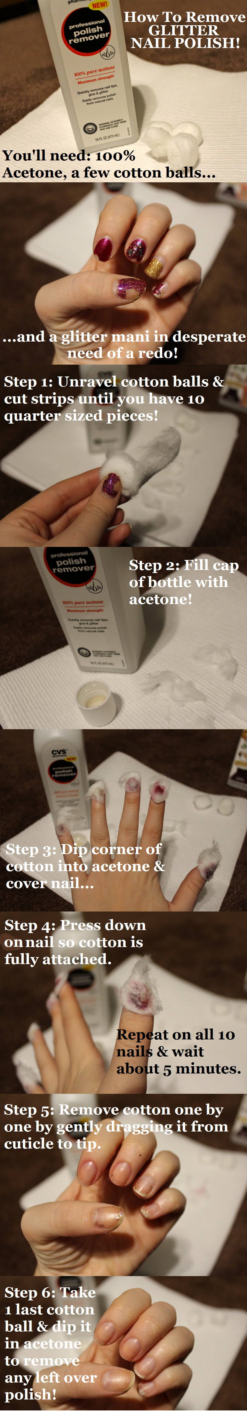 Livingaftermidnite: How to remove glitter nail polish
