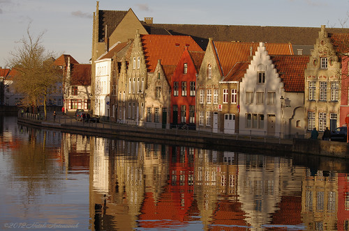 autumn reflection architecture landscape canal brugge bruges synthesis belovedbrugge pensiveautumn