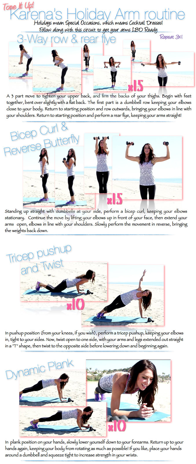 picture relating to Printable Arm Workouts called Ultimate 3 physical exercises for Slender Toned Palms for Summer time