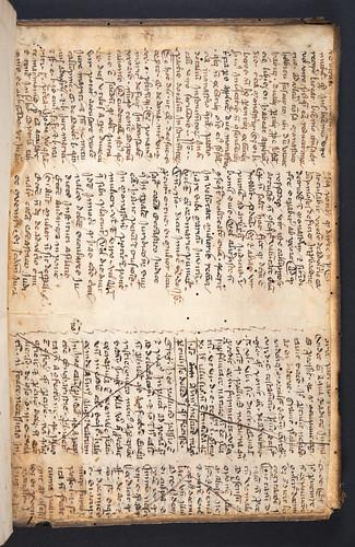 Medieval manuscript pastdown from Macrobius, Aurelius Theodosius: In Somnium Scipionis expositio