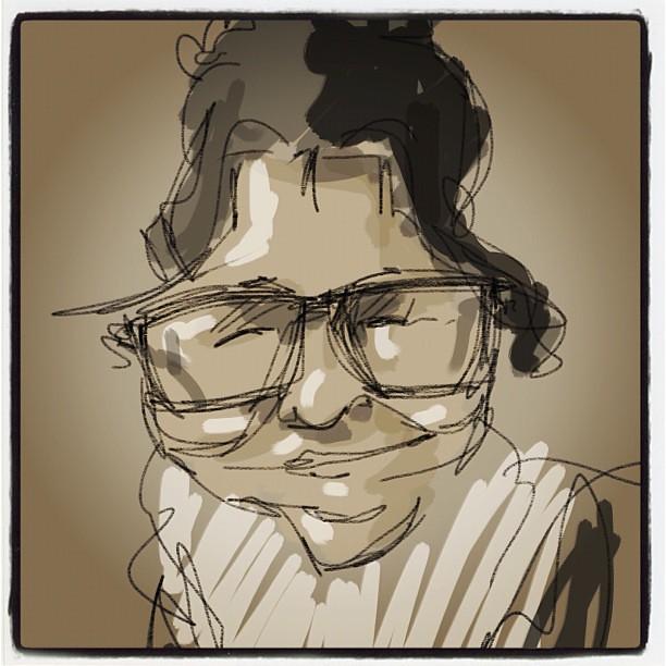 Sketching in  class, Amaia Mugika