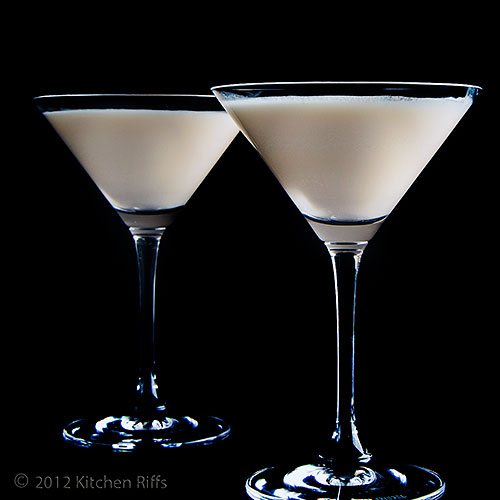 Two Brandy Alexander Cocktails in Cocktail Glasses