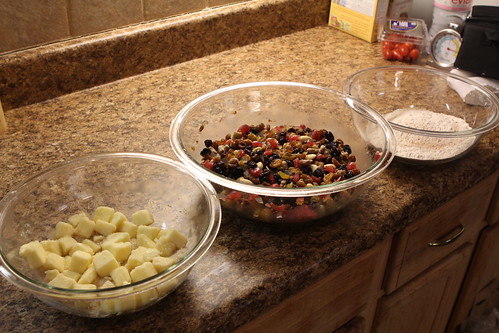 Fruit Cake Mise en Place