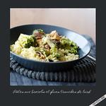 Pâtes brocoli et fines tranches de lard