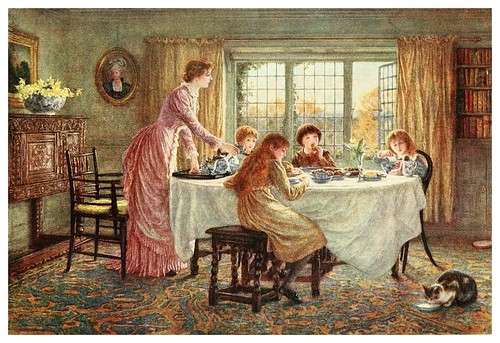 017- El té de los niños-Happy England as painted by Helen Allingham-1903