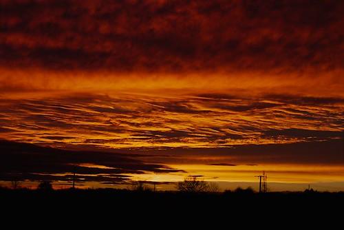 sunset sky lights ciel nuages coulds lumières coucherdesoleil