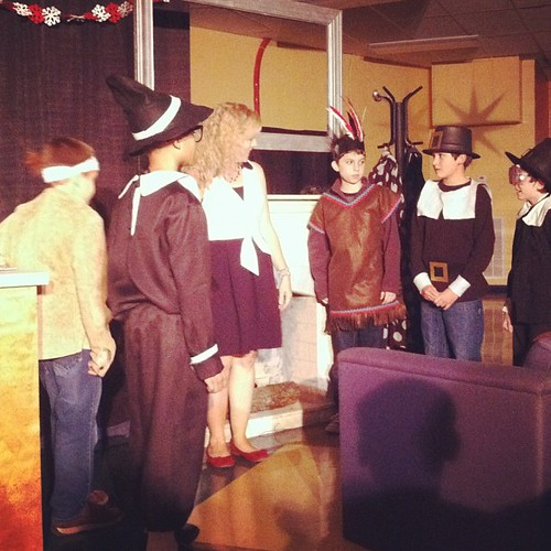 "My little ""brave"" in his 5th grade drama performance today."