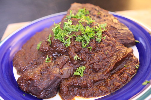 Braised Brisket with Fig Gravy