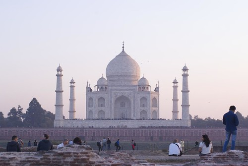 Taj Mahal at Sunset from Moon Garden