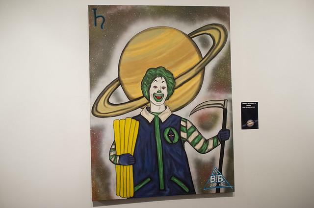 Ronald McDonald as Saturn god of Agriculture