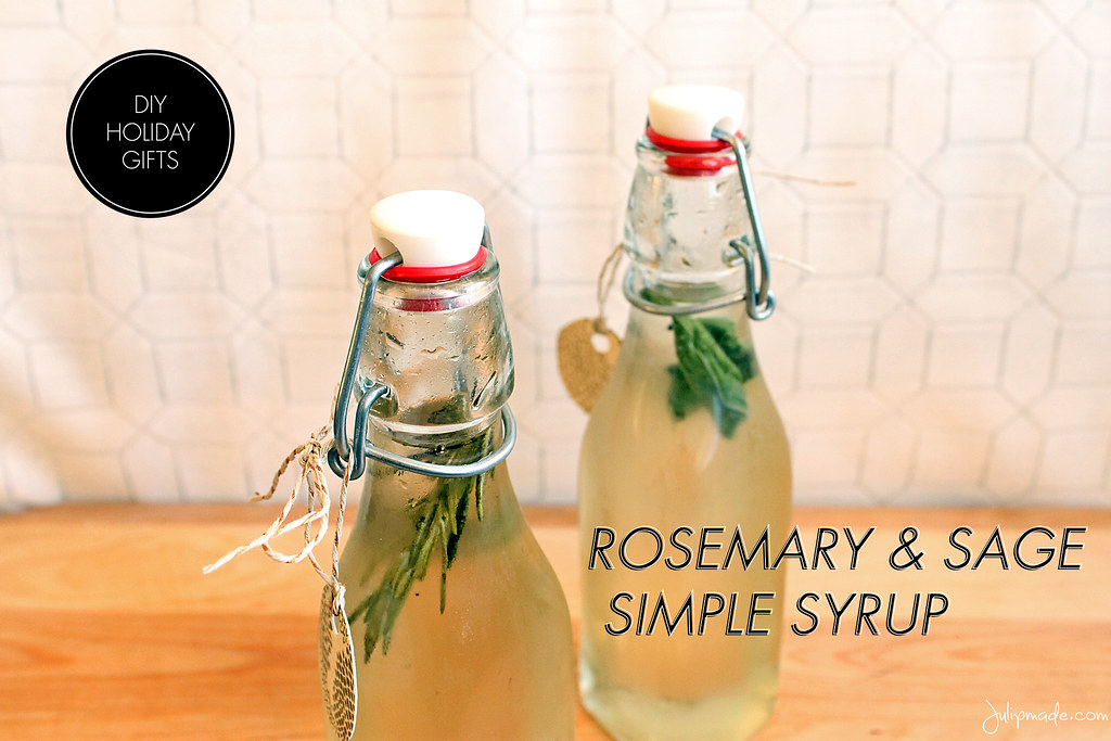 Julip Made herb simple syrup DIY holiday gift2