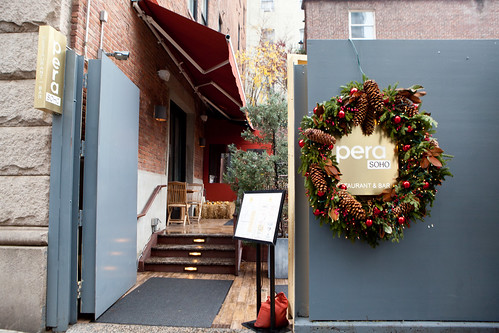 Entrance to Pera SoHo with Christmas decorations