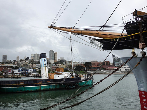 Harbour of old ships, San Franscisco