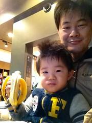 スタバで朝御飯とらちゃん 2012/12/17
