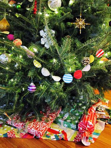 handmade Christmas scrappy garland