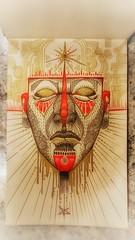 Ek-Ka'An Tamax-Chi' / The Oracle of the Starry Sky / traditional sketch / Dino Olivieri