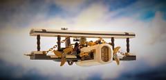 Steampunk airplane Cloudpiercer - in flight