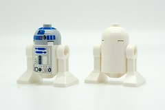 Lego minifigs of R2-D2