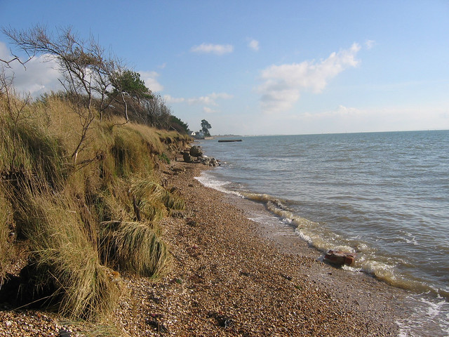 The Solent Way east of Warsash