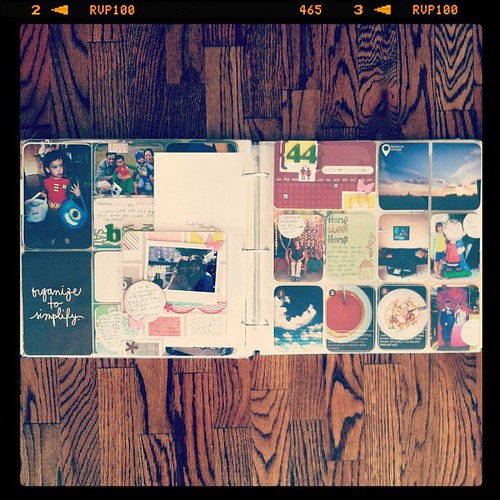#projectlife week 44 full spread inserts left side