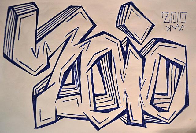 Zoio - ballpoint sketch