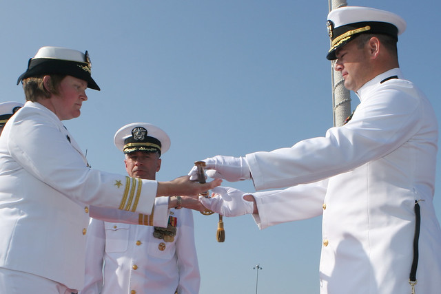 USS Milius (DDG 69) Change Of Command