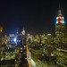 Empire State Building LED live election results Obama Romney
