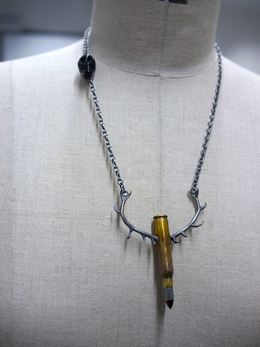 Bullet With Antlers - Pendant - 6