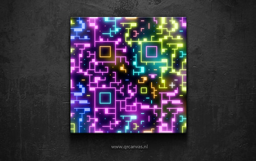 QR code Neon QR code design