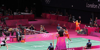 China vs. Denmark In The Men's Doubles Badminton Final