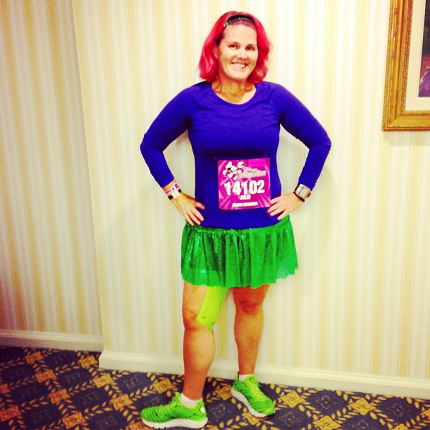 Ready to run the @runDisney Wine & Dine Half. Too bad that Flounder doesn't do well on land. #winedinehalf #runDisney #Disney #Ariel #LittleMermaid