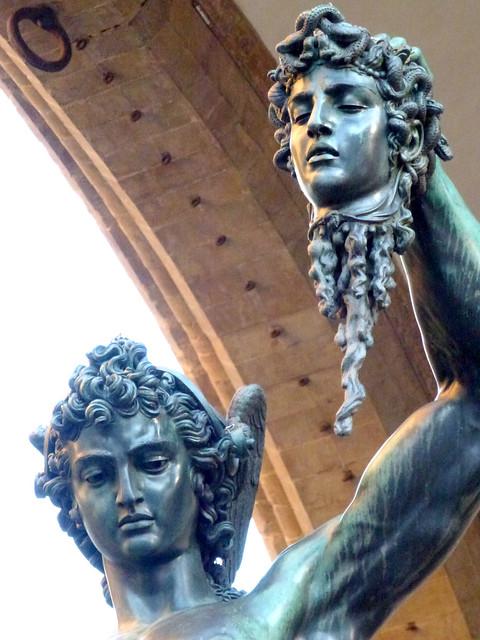 Florence - jour 1 - 097 - Piazza della Signoria - Loggia dei Lanzi - Persée par Benvenuto Cellini
